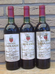 1975 Chateau Larmande, Saint-Emilion Grand Cru Classe – 3 bottles