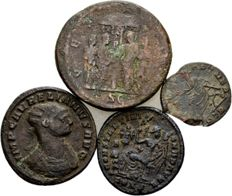 Roman Empire – Lot of Four AE Coins – Julia Domna, Claudius II, Aurelian and Constantine the Great 193-337 A.D.