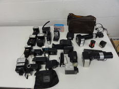 Large lot of flash units and accessories