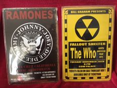 The Ramones and The Who Concert Poster Tin Plaques
