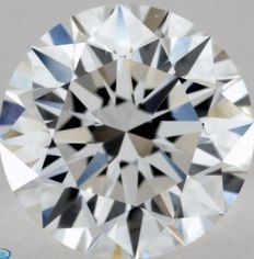 0.50CT E/VVS1 GIA Certified round brilliant cut diamond - Laser inscribed - Original image 10X