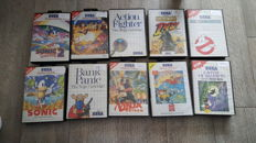 Sega master systeem games - 10 games like Ninja Gaiden , Sonic 1 & 2 and more