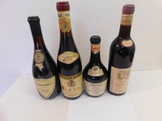1969 Vecchio vino de Cavou Fontana Sizzano x 1 bottle-1970 Barolo Enopolio Bubbio x 1 bottle- 1985 Barolo Bersano x 1 bottle- 1980 Barba resco Casina Tuni x 1 bottle / 4 bottles in total