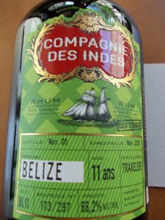 Rum Belize 11 Years Old - 1 of 297 bottles only - 66,2%
