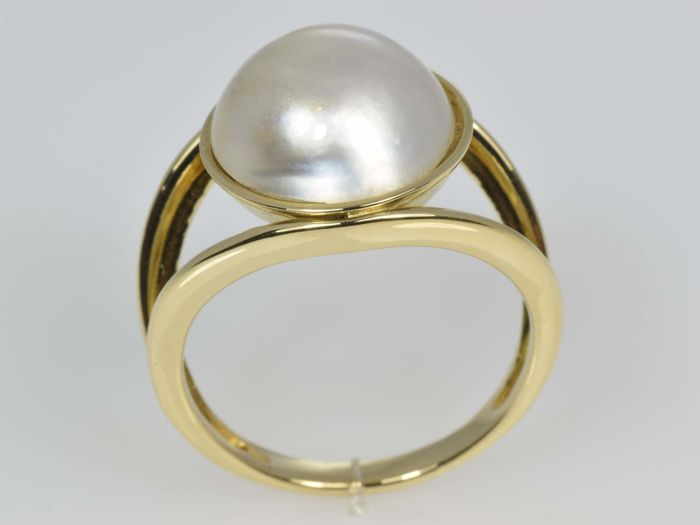 Gold (18 kt) 'TOUS' Ring Pearl Size: 59.5 (ø 19 mm) No reserve price.