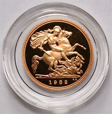 Great Britain - ½ Sovereign 1982 - Elizabeth II - gold