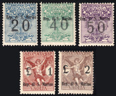 San Marino - 1924 - Postage due for money order - CMPL series - 5 values