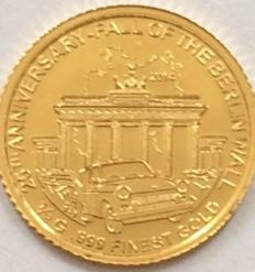 Cameroon - 1500 Francs 2014 'Fall of the Berlin Wall 25th Anniversary' - ½ gr. Gold