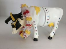Cow parade Cowparade - Rock N Roll Cow - Elvis Cow - medium - Resin - retired in box