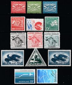 The Netherlands 1921/1980 – Nine complete issues Airmail