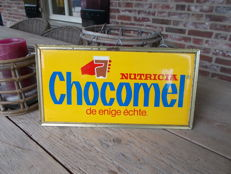 """Old advertising sign """"Chocomel"""" - 1960s"""