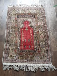 Hand-knotted oriental Kaysery prayer rug - first half 20th century