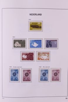 The Netherlands and Overseas 1852/1989 - Two collections in two Davo standard albums.