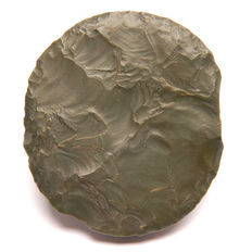 Neolithic discoid object from green Jasper - 76 X 68 mm