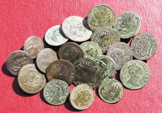 Spain - Excellent 20 button lot, Colonial period: