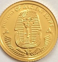 Fiji - 10 Dollars 2010 'History of Ancient Egypt / Tutankhamun' - ½ gr. Gold