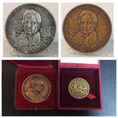 San Marino and Vatican – lot of four medals in silver and bronze.