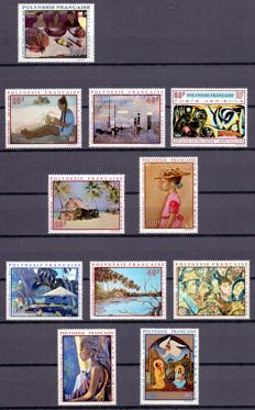 French Polynesia - 1960/1980 - Set presented on black cardboard.