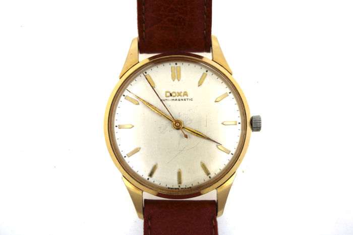 antique watch second hand clothing and jewellery buy and sell antique doxa men s watch mechanical chronometer gold plated circa 1960 raredoxa mechanical chronometer material gold platedmovement calibre