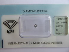 0.07 ct brilliant-cut diamond E/VVS1