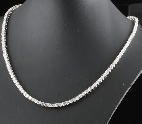 Necklace with 133 diamonds, 13.00 ct in total - 42 cm
