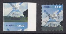 The Netherlands 2005 – Mill, misprint – NVPH 2319 with heavily shifted perforation