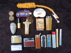 LOT of 45 old gas lighters, gas - gasoline and  'original' 1965/1970-Metal & Plastic