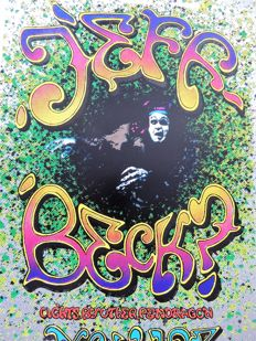 Yardbirds Jeff Beck Psychedelic Poster