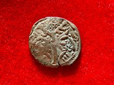 Spain - Fernando III El Santo (the saint) (1230-1252). Vellon coin ( 0.75 g, 17 mm).  Without mint. MONETA LEGIONIS. Tree. Rare.