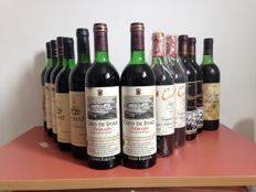 2 bottles of Marques de Villamagna Gran Reserva 1970-73 - 2 bottles of Coto de Imaz Gran Reserva 1982 - 2 bottles of Cune 1995 - 2 bottles of Palace of Arganza 1985 - 1 bottle of  Raimat Clos Abbey 1988 - 1 bottle of  Abadia Reserva 1985 - 2 bottles of