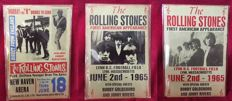 The Rolling Stones 3 x  Concert Poster Tin Plaques