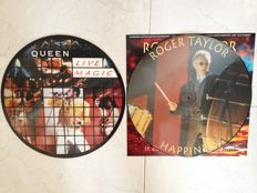 Queen Live magic 14 track promo picture disc,unofficial. Roger Taylor Hapiness,numbered limited edition picture disc