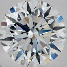 0.50CT E/IF GIA Certified round brilliant cut diamond - Original Image 10X - Laser Inscribed