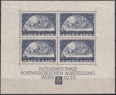 Austria 1933 – WIPA block sheet – Michel No. 1