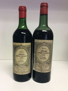 1959 Chateau Gressier-Grand-Poujeaux, Moulis-En-Medoc, France , 2 bottles 0,75l