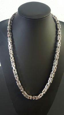 Heavy silver king's braid necklace in 925 - 67.5 cm - 238 g