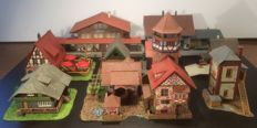Faller/Kibri/Pola/and others,H0 - Decorated Inn, stations, houses, signal box etc..