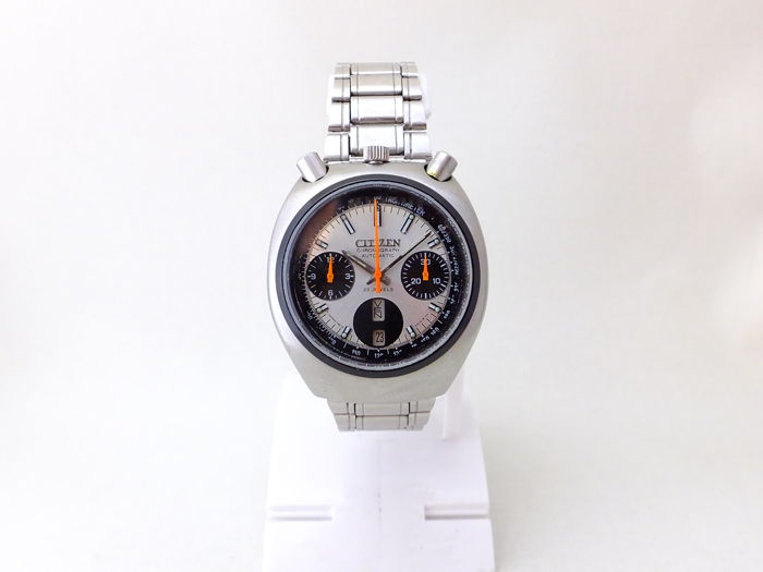 citizen second hand watches buy and sell in the uk and citizen bullhead automatic chronograph wristwatch 1970s