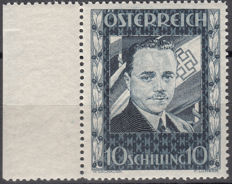 Austria, year 1936 – Dollfuss, 10 s blue grey stamp - Michel catalogue No. 588.