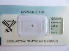 0.08 ct brilliant cut diamond, D / VVS2 ***No minimum price***