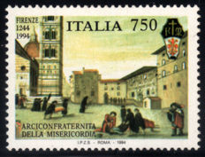 Italy - 1994 - Misericordia in Florence - 750 Lire - Yellow