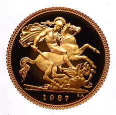 Great Britain - ½ Sovereign 1987 - Elizabeth II - gold