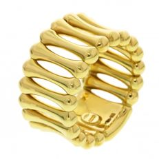 "Chimento, 18 kt yellow gold openwork ""Bamboo Over"" ladies' ring, ring size: 17.2 (14)"