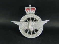 Vintage CSMA Civil Service Motor Association Badge Made by Collins London Good Red Enamel