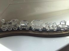 Swarovski - Train, 5-piece set, with display.