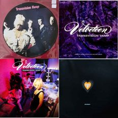 3 x Transvision Vamp L.P's- 2 Limited Edition Pic Disc-1 Standard Vinyl + Promo Vinyl Case with Tour Dates and Track Listings.