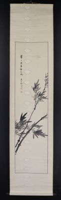 Painting on Iwase Tonei (1838-1908) roll - Japan - late 19th century