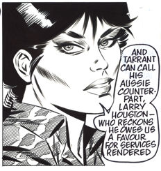 Romero, Enrique Badia - Original inked strip (s.10068) - Modesty Blaise Daily