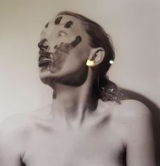 Paul Blanca (1954/58) - Title unknown, image of a woman with paint on her face