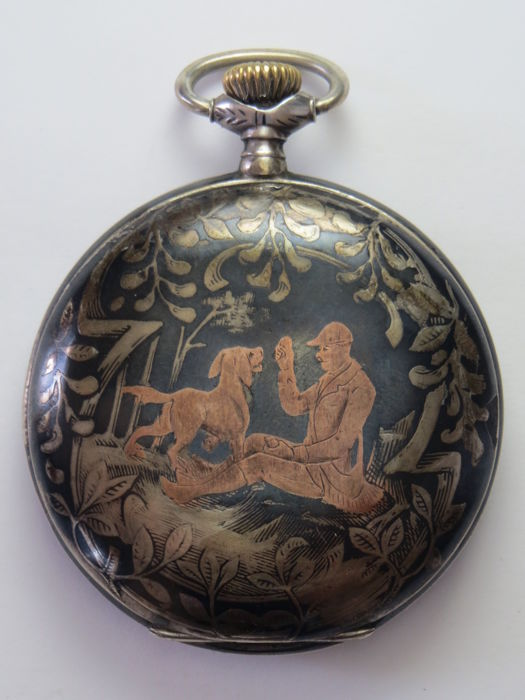 Système Hahn – men's pocket watch – late 19th Century